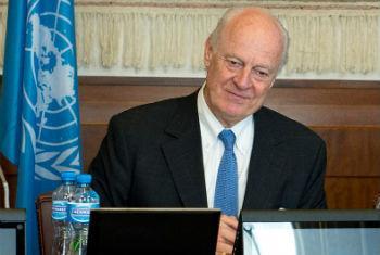 Enviado especial para a Síria, Staffan de Mistura. Foto: ONU/Jean-Marc Ferré