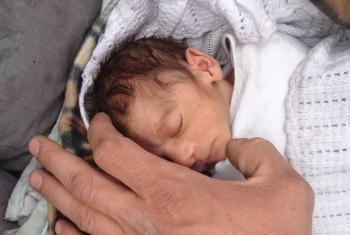 """Amira também é chamada de """"bebé do cerco"""".Foto: Rami Al Sayed/Unrwa.org"""