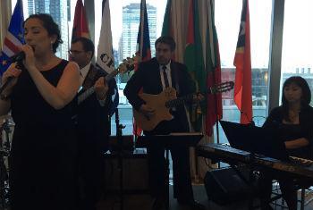 Banda toca música brasileira nas comemorações do Dia da Língua Portuguesa. Foto: Rádio ONU