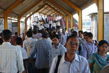 Estação de trem em Mumbai, Índia. Foto: Banco Mundial/Simone D. McCourtie