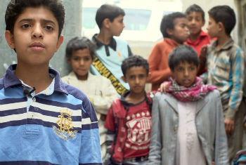 Crianças iemenitas sob risco de desnutrição. Foto: Unicef