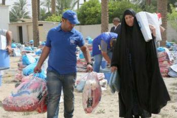 Ajuda para iraquianos. Foto: OIM