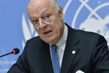 Staffan de Mistura, enviado especial da ONU para a Síria. Foto: ONU/Jean-Marc Ferre