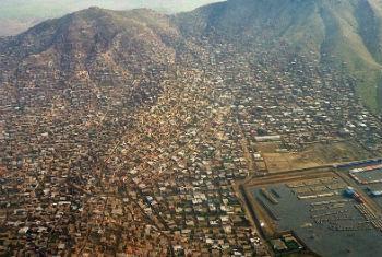 Vista aérea da cidade de Cabul, Afeganistão. Foto: Unama/Ari Gaitanis