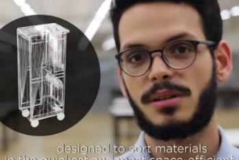 Vídeo brasileiro selecionado apresenta ideia que torna serviço de bordo mais eficaz, além de facilitar a seleção de materiais recicláveis durante vôos. Foto: Reprodução