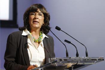 Christiane Amanpour. Foto: ONU/Rick Bajornas (arquivo)