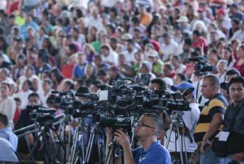 Unesco quer liberdade de expressão. Foto: ONU/Evan Schneider