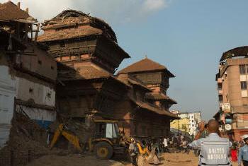 Destruição no Nepal. Foto: OCHA/Demetrius Wren
