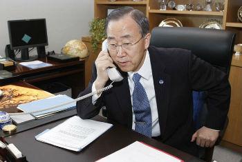 Secretário-geral da ONU, Ban Ki-moon. Foto ONU/Paulo Filgueiras (arquivo).