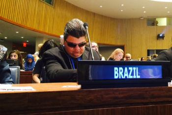 Antonio José Ferreira participa do encontro na sede da ONU.Foto: Rádio ONU