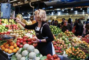 Índice de Preços de Alimentos da FAO caiu para seu menor valor desde 2009. Foto: FAO/Alessia Pierdomenico