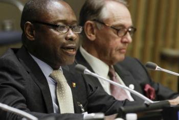 Geraldo Martins discursou nesta quarta-feira na sede da ONU, em Nova Iorque. Foto: ONU/Evan Schneider
