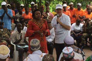 Peter Graaff em visita à Guiné-Bissau. Foto: Unmeer