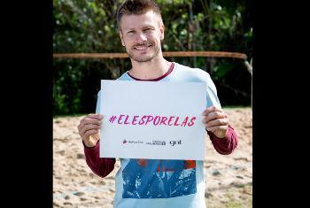 O ator Rodrigo Hilbert participa da campanha. Foto: Divulgação GNT