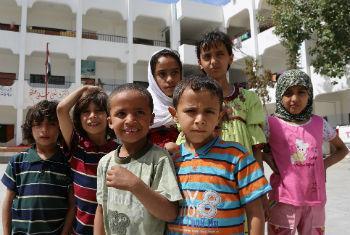 Crianças iemenitas. Foto: Ocha/Charlotte Cans