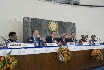 Evento paralelo da ONU Mulheres e do Banco Mundial sobre financiamento para igualdade de gênero.Foto: ONU/Eskinder Debebe
