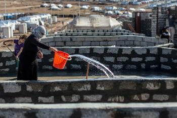 Falta de água e serviços de saneamento no Iraque. Foto: Ocha/Iason Athanasiadis