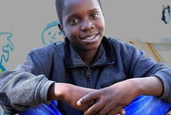 Página ilustra história de William, de Maputo. Foto: Unicef.