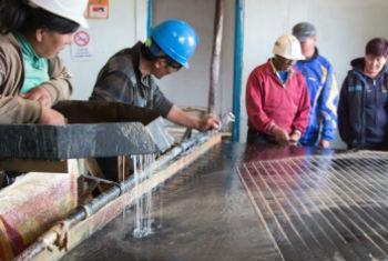 Usina Mandal na Mongólia usando métodos livres de mercúrio. Foto: Pnuma