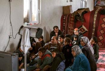 Família síria refugiada na Turquia. Foto: Acnur/I. Prickett
