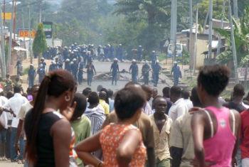 Manifestações no Burundi. Foto: Irin/Desire Nimubona