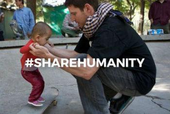 Campanha #ShareHumanity. Imagem: Ocha