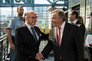 Ministro Cazaneuve e António Guterres. Foto: Acnur/A.Lechat