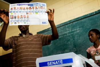 Eleições parlamentares no Haiti. Foto: Minustah