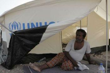 Refugiado do Iémen encontra abrigo em Djibuti. Foto: Acnur/H. McNeish
