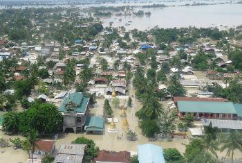 Cheias no Mianmar. Foto: PMA/Khin Khin Aung