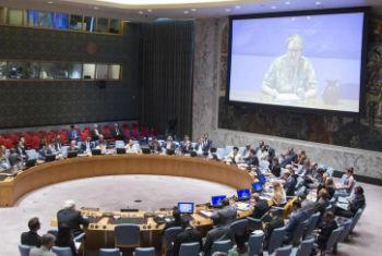 Ellen Loej participa na reunião do Conselho de Segurança. Foto: ONU/Rick Bajornas
