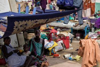 Abrigo temporário para deslocados no Sudão do Sul. Foto: Acnur.