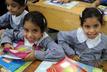 Regresso às aulas em Gaza. Foto: Unrwa