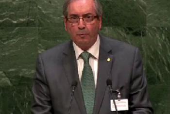 Eduardo Cunha fala na Assembleia Geral da ONU
