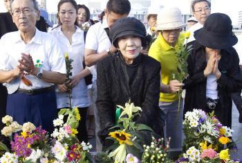 Cerimónia decorreu no Memorial da Paz de Hiroshima. Foto: ONU.