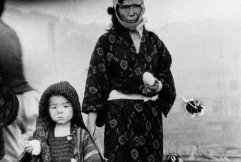 Sobreviventes em Nagasaki em 1945. Foto: ONU/Yosuke Yamahata
