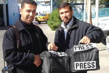 Jornalistas. Foto: Unesco