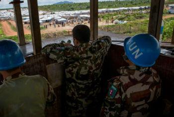 Boinas azuis da Unmiss em Juba. Foto: ONU/JC McIlwaine