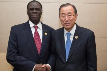 Ban Ki-moon e Michel Kafando. Foto: ONU/Eskinder Debebe.