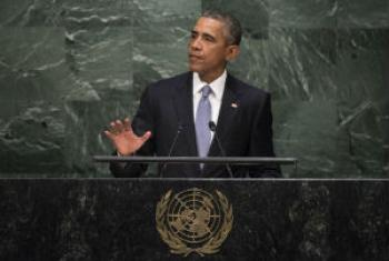 Barack Obama discursa na 70ª Assembleia Geral. Foto: ONU/Cia Pak