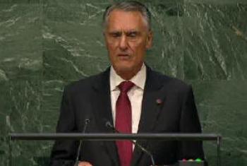 Aníbal Cavaco Silva. Imagem: TV ONU