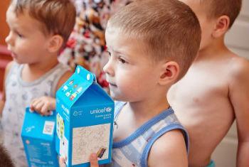 Crianças na Ucrânia. Foto: Unicef/Pavel Zmey