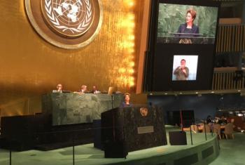 Dilma Rouseff na Assembleia Geral da ONU. Foto: Rádio ONU