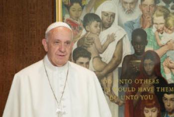 Papa Francisco. Foto: ONU/Rick Bajornas