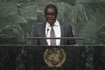 João Soares da Gama na Assembleia Geral da ONU. Foto: ONU/Amanda Voisard