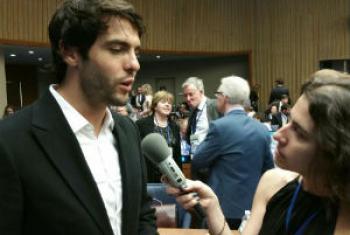 Káká, embaixador da Boa Vontade do PMA, em entrevista à Rádio ONU.