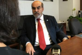 José Graziano da Silva em entrevista à Rádio ONU. Foto: Rádio ONU/Edgard Júnior