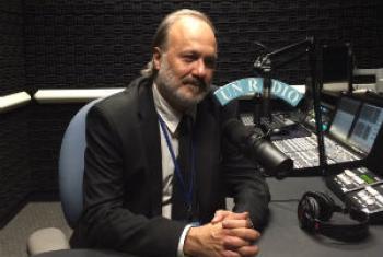 Maurício Broinizi nos estúdios da Rádio ONU. Foto: Rádio ONU