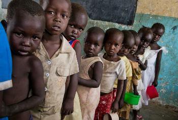 Má nutrição provoca mortes em crianças no Sudão do Sul. Foto: PMA