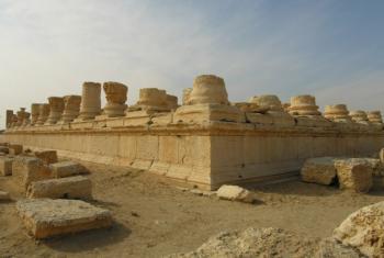 Sítio arqueológico de Palmira na Síria. Foto: Unesco/F. Bandarin.